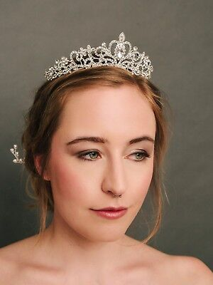 Prinzessinnen Krone NEU Brautschmuck Tiara Haarschmuck Hochzeit Diadem Strass