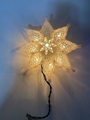 Seaway/Pamida The Trimmerry 10 Light Indoor Tree Topper White Clear Glitter