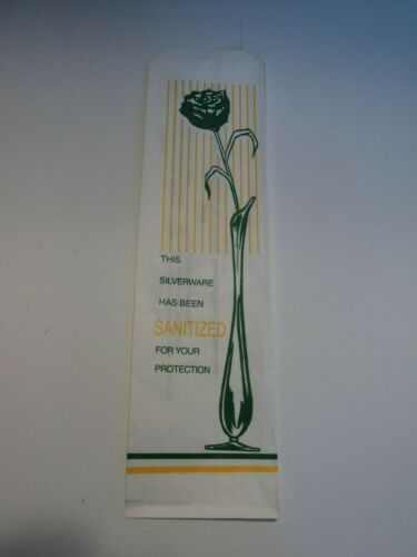 """2000pc Printed Disposable Silverware Bags 2.75""""x10"""" , Fast, Free Ship"""