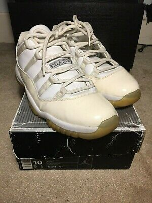 2001 Nike Air Jordan Retro XI 11 Zen Gray White US 10 OG Box 2000