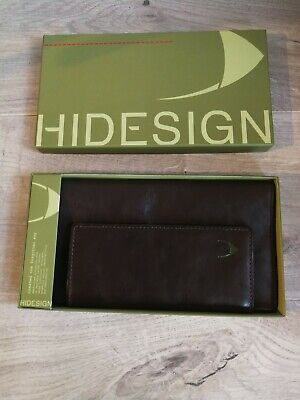 Hi design Leather Brown Travel Wallet