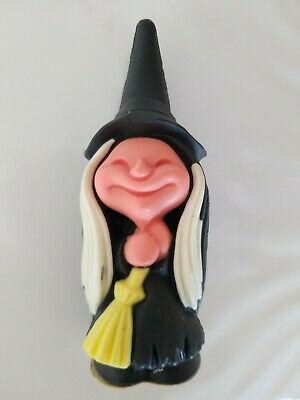 "Vintage 1981 Halloween Witch Decoration Wizard 6"" Tall Decorative Air Freshener"