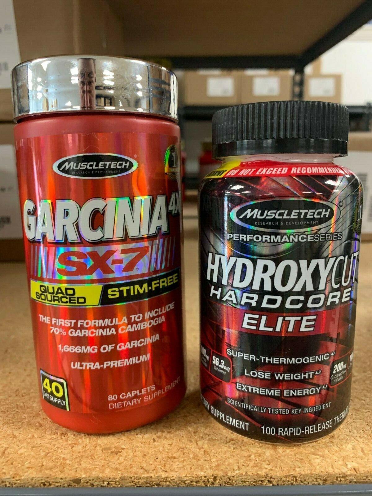 Hydroxycut Stack! Garcinia 4X SX7 80ct & Hydroxycut Elite 10