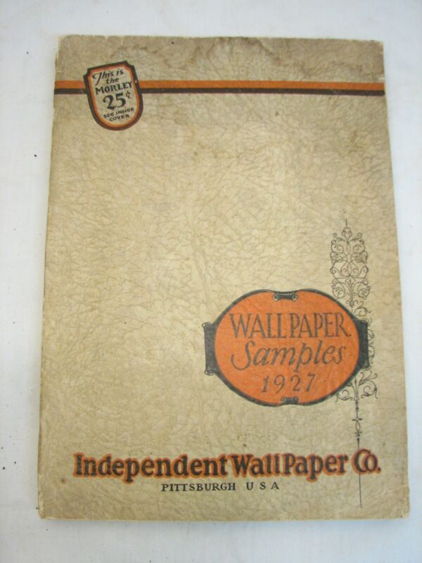 Vintage 1927 Morley Wall Paper Catalog Art Deco Wallpaper Retro Sample