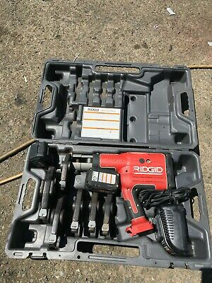 Ridgid Rp 330 Pressing Tool 1 Charger 2 Batteries 6 Clamps