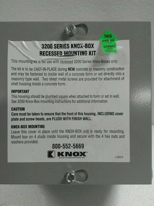 3200 Series Knox- Box Recessed Mounting Kit New
