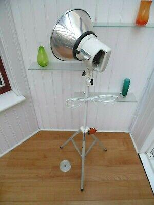 70/80s PHOTAX TRIPOD LIGHT, Vintage STUDIO SPOTLIGHT, Retro WHITE LED FLOOR LAMP