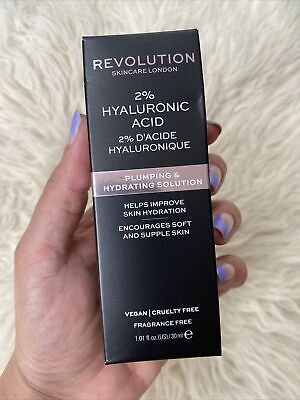 Revolution Skincare 2% Hyaluronic Acid Plumping & Hydrating Solution 1 Oz NEW