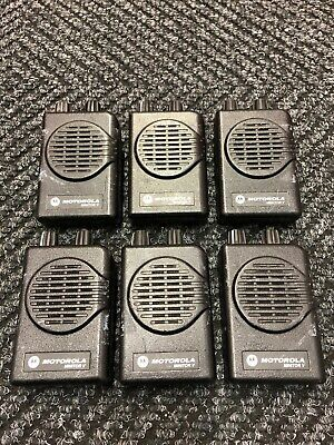 Lot Of Six 6 Motorola Minitor V Pagers 151-158.9975 Mhz 2 Ch Vhf A03kms9239bc