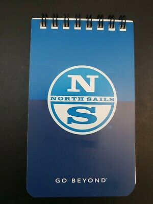 North Sails Waterproof Paper Spiral Notebook Notepad 45 Sheets