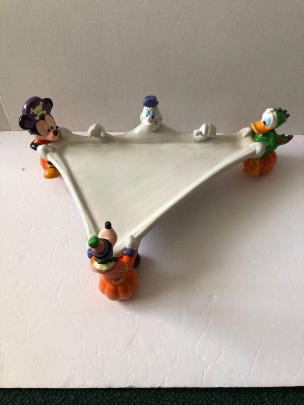 Disney Halloween Themed Cupcake or Treat Tray Mickey Donald Duck Goofy Ghost NIB