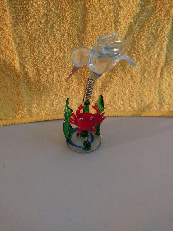 Hand Blown Art Glass Miniature Animal Figurine . New in Box