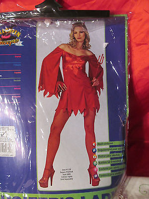 Lucifer's Lady Halloween Costume One Size Fits Most Up To Size 12