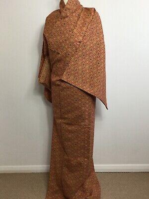 SALE-Vintage Authentic Silk  Kimono Hitoe Royal Gorgeous Stylish design #022