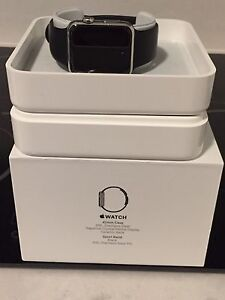 Apple Watch -Stainless Steel 42mm with Black Sport band
