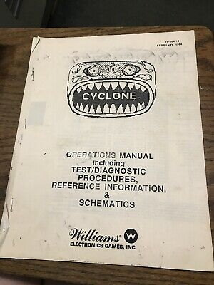 Williams CYCLONE Pinball Machine Operations Manual-photocopy-missing pages, used for sale  Shipping to Nigeria