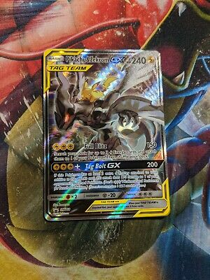 Alternate Art Pikachu & Zekrom GX Tag Team SM168 Pokemon Holo Promo - NM