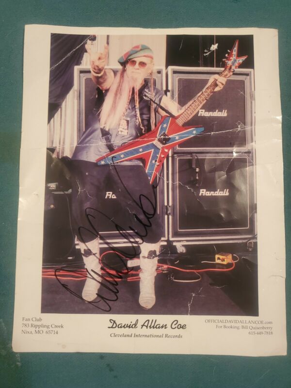 David Allan Coe Autographed Signed Original Photo