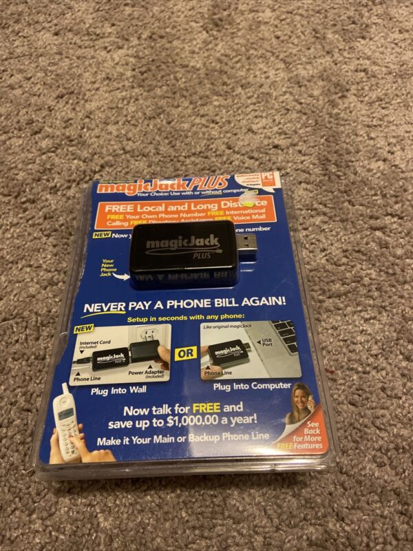 Magic-Jack Plus Free local & long distance telephone service NOS