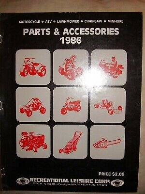 Vintage 1986 Recreational Leisure ATV Mini-Bike Parts and Accessories Catalog