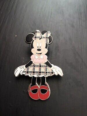 Disney Pin -Disneyland Paris - Minnie Mouse Pink Tartan
