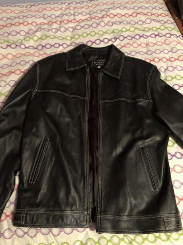 Gucci Leather Jacket Men's Large