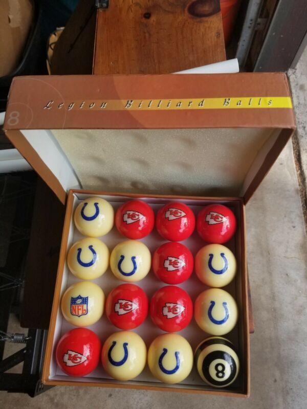 Legion Billiard Pool Balls Kanas City  And Colts