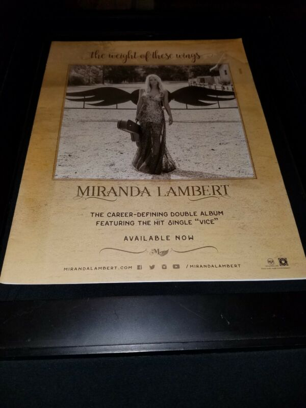 Miranda Lambert The Weight Of These Wings Rare Original Promo Poster Ad Framed!