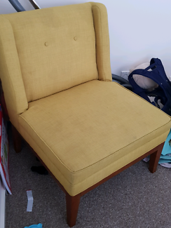 Freedom single armchair sofa yellow