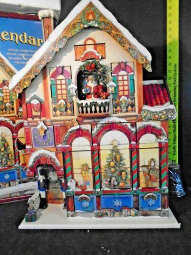Costco Christmas Advent Calendar 24 Doors Wooden Victorian House #663167 RARE