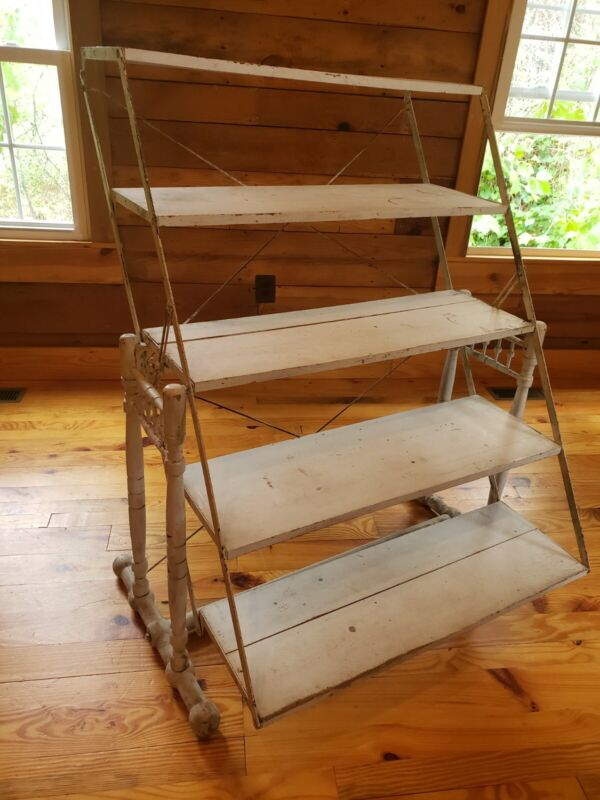 Antique Country Store Shelf Display That Tilts To A Table  Combination Table Co.