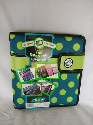 Case It The Open Tab Binder 3 Rings 2 Inch Capacity Polka Dot