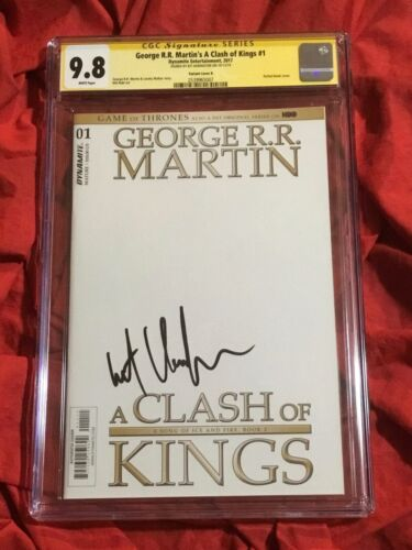 CGC SS 9.8~GEORGE R.R. MARTIN'S GAME OF THRONES #1~BLANK~SIGNED BY KIT HARINGTON