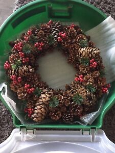 Christmas wreath and case