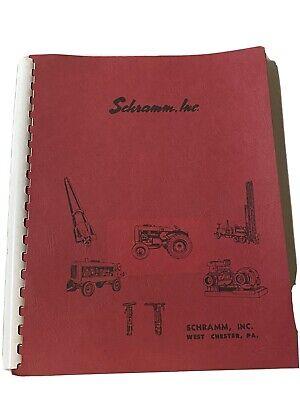 1961 Schramm Dealer Sales Brochure Book Rotadrill Well Drilling Rigs 106 Pgs