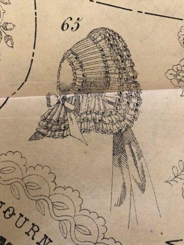 JOURNAL DES DEMOISELLES June 1858 - Bonnet - Greek vest