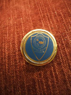 """Member United States Jaycees pin 1"""" diameter"""