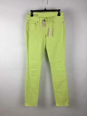 - NWT Ann Taylor Highlighter Yellow Denim 5-Pocket Modern Fit Slim Leg Jeans 2