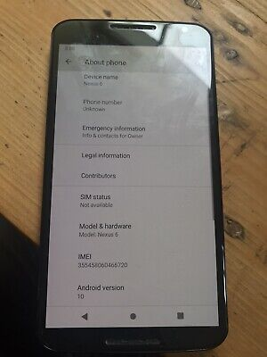 Nexus 6 - 64GB - (Unlocked) Smartphone. Lineage OS. See Pics