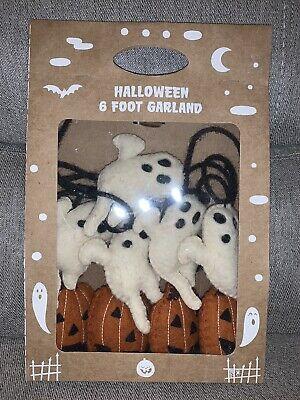 Halloween Fall Garland Ghosts Pumpkins 6 Ft Felt Stitch Candy Corn Lane NEW
