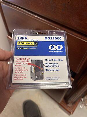 Square D Qo2100c Qo2100 100 Amp Two Pole Circuit Breaker