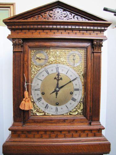 Rare Antique 19th Century Soh Winterhalder & Hofmeier 8 Bell w/Gong 8 Day Clock