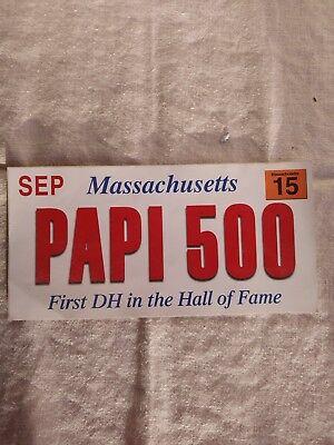 PAPI 500 Sticker, Sep, 2015- Recognizes David Ortiz 500th Home Run. Collectible