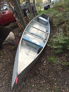 16ft square stern canoe and motor