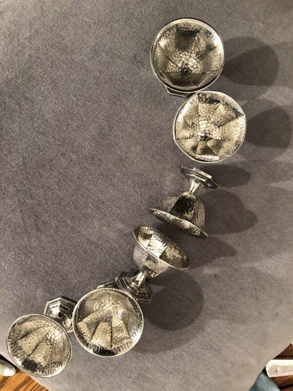 Sterling Silver Antique Salt Bowls w/bonus Sterling And Ensmel Spoon