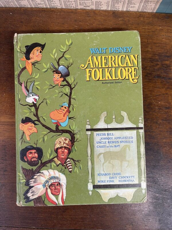 1956 Walt Disney AMERICAN FOLKLORE Illustrated Children
