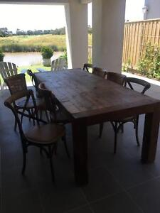 Recycled timber 10 seater dining table