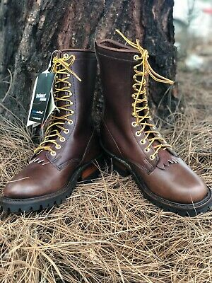 Whites Hathorn Explorer Brown Leather Packer Logger Woodland Boots Mens EE Width