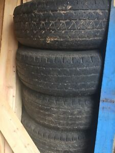 Set of 4 GMC Tires and rims