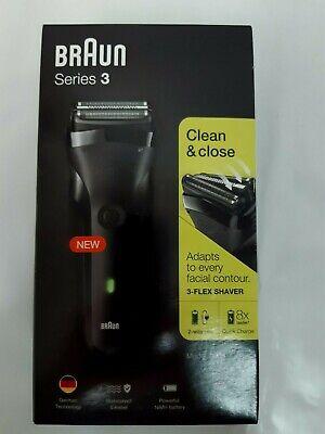 Afeitadora eléctrica en seco o húmedo Braun Series 3 Clean Close, para...